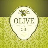 Decorative olive branch. For label, pack Stock Photo