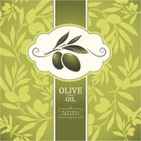 Decorative olive branch Stock Image