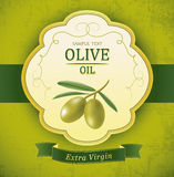 Decorative olive branch. For label, pack. Royalty Free Stock Photos