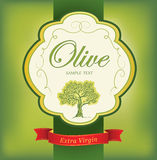 Decorative olive branch. For label, pack. Vector olive oil. Decorative olive branch. For label, pack Royalty Free Illustration