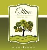Decorative olive tree. For label, pack Stock Illustration