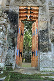 Decorative open doors of Pura Kehen Temple in Bali Royalty Free Stock Photography