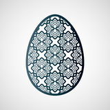 Decorative openwork easter egg with floral pattern. Stock Images