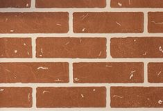 Decorative orange brick wall, background or wallpaper stock photos