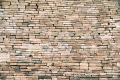 Decorative orange brick wall.Red aged brick wall texture. Building background.Vintage historical old brick wall background royalty free stock photos