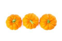 Decorative Orange Pumpkins, Top View Royalty Free Stock Image