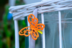 Decorative orange small butterfly Stock Photo