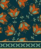 Decorative orient flora seamless l decor Royalty Free Stock Photography
