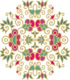 Decorative oriental floral composition Stock Image