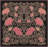 Decorative oriental floral pattern Stock Photos