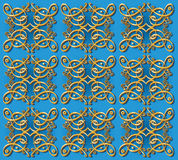 Decorative oriental wallpaper background Royalty Free Stock Photo