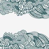 Decorative original frame. Original vintage frame template, background design. Hand drawn frame with colorful doodling elements Stock Images