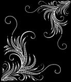 Decorative ornament. Black and white floral ornament Stock Photography