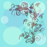 Decorative ornament against circles. Ornament vegetable against circles of the different size Royalty Free Stock Image