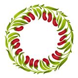Decorative ornament circle red berries Royalty Free Stock Photography