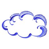 Decorative ornament cloud Royalty Free Stock Images