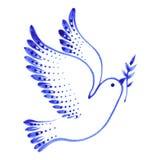 Decorative ornament dove peace Stock Photos