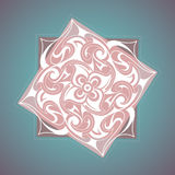 Decorative ornament with ethnic elements Stock Photography