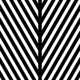 Decorative ornament, figurative design template with striped black white triangles. Background, texture with optical Royalty Free Stock Photos