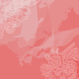 Decorative ornament frame on pink Royalty Free Stock Image