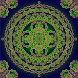Decorative ornament green and blue Royalty Free Stock Photos