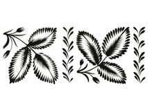 Decorative ornament. Hand drawn, , black illustration in Ukrainian folk style Royalty Free Stock Photography