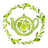 Decorative ornament herbal circle Royalty Free Stock Photo