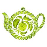 Decorative ornament herbal teapot Stock Image