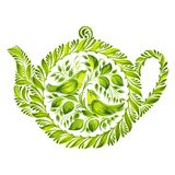 Decorative ornament herbal teapot Royalty Free Stock Photography