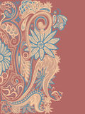 Decorative ornament pattern on sienna background Stock Photos