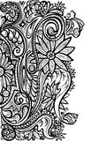 Decorative ornament pattern  on white background Royalty Free Stock Images