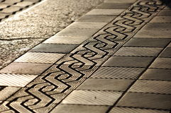 Decorative ornament pavement Royalty Free Stock Photos