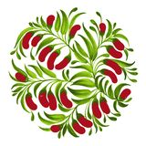 Decorative ornament red berries Stock Image