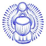 Decorative ornament scarab beetle egypt stock illustration