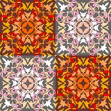 Decorative ornament. Seamless pattern of colorful kaleidoscope. Decorative ornament. Vector illustration Royalty Free Stock Image