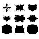 Decorative ornament shapes. My check portfolio other different image Stock Image
