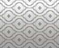 Decorative ornament on the silver background Stock Images