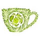 Decorative ornament teacup Stock Images