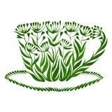 Decorative ornament teacup Stock Photography