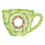 Decorative ornament teacup Royalty Free Stock Photos