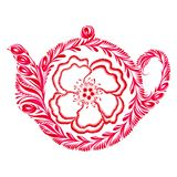 Decorative ornament teapot Stock Images