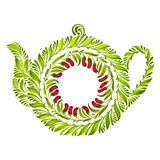 Decorative ornament teapot Royalty Free Stock Photography