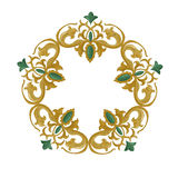 Decorative ornament with traditional medieval elements on isolated white Royalty Free Stock Images