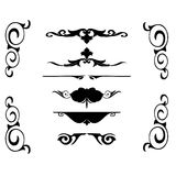 Decorative ornament tribal rules. Decorative ornament shapes. My check portfolio other different image Stock Image