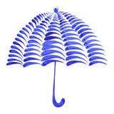 Decorative ornament umbrella. Hand drawn illustration in Ukrainian folk style royalty free illustration
