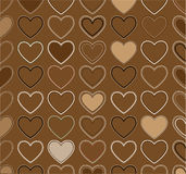 Decorative ornament - valentine heart. Wrapping paper -  illustration Royalty Free Stock Photo