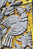 Decorative ornament on the wall of a building, Moscow, Russia Stock Photo