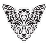 Decorative ornamental cat silhouette. Stock Photos