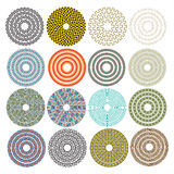 Decorative ornamental circles Royalty Free Stock Photos