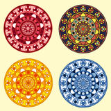 Decorative ornamental circles set. Four decorative ornamental circles set Royalty Free Stock Photos